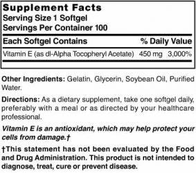 Vitamin E 450 mg (1000 IU)