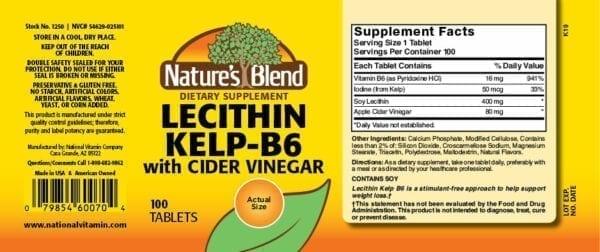 lecithin kelp b6
