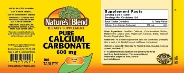 pure calcium carbonate