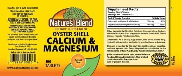 oyster shell calcium and magnesium