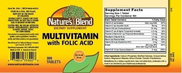 multivitamin with folic acid