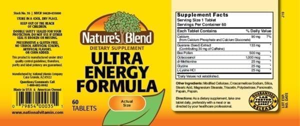ultra energy formula
