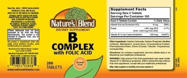 b complex with folic acid