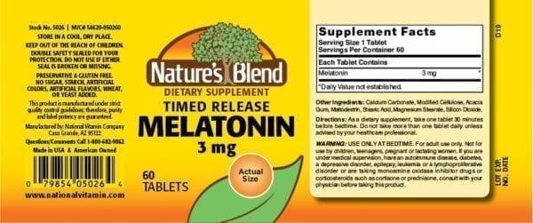 melatonin timed release
