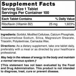 Vitamin B-2 25 mg