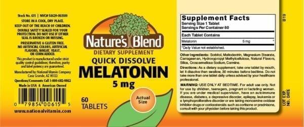 quick dissolve melatonin