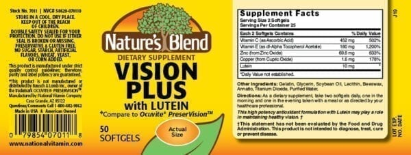 vision plus lutein