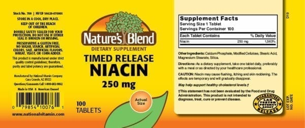 timed released niacin