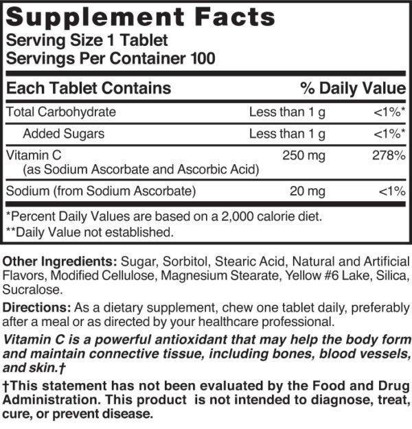 Vitamin C Chewable 250 mg