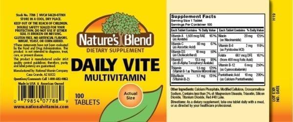 daily vite multivitamin
