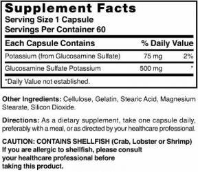 Glucosamine Sulfate 500 mg