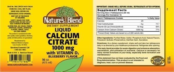 liquid calcium citrate