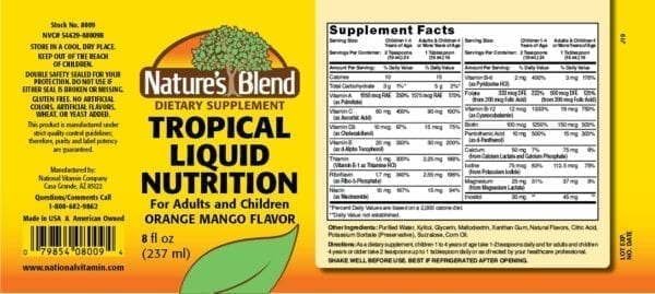 tropical liquid nutrition