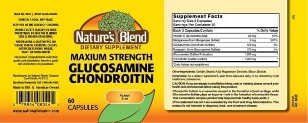 maximum strength glucosamine chondroitin