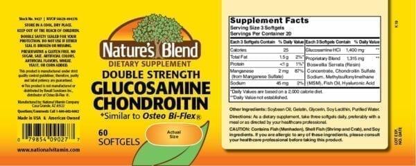 double strength glucosamine chondroitin