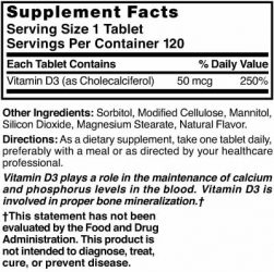 Vitamin D3 50 mcg (2000 IU) Chewable