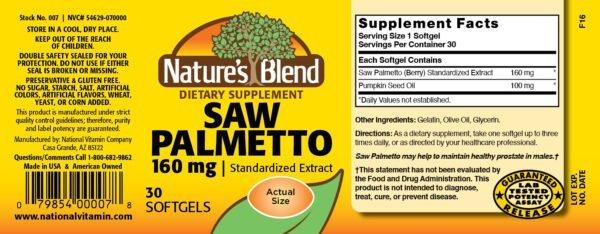 Saw Palmetto Extract 160 mg