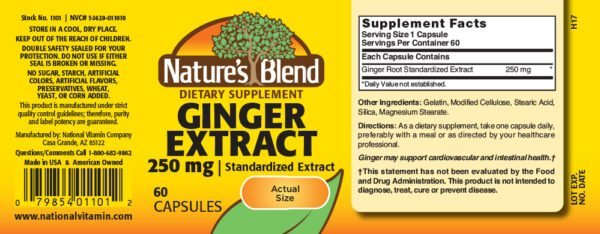 Ginger Extract 250 mg