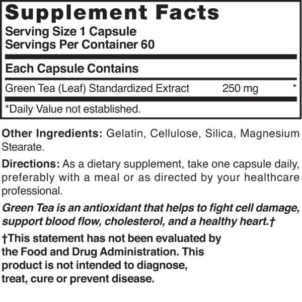 Green Tea Extract 250 mg