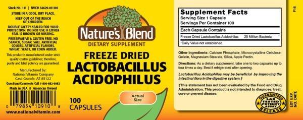 dried lactobacillus acidophilus