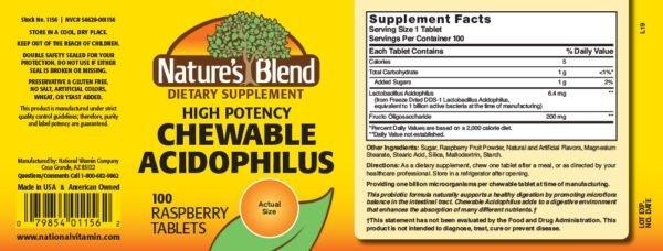 chewable acidophilus