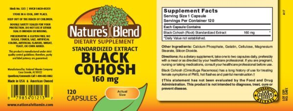 Black Cohosh Extract 160 mg