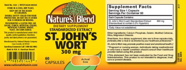 St. John's Wort Extract 300 mg