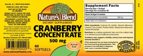 Cranberry Concentrate 500 mg