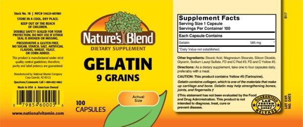 Gelatin 9 gr