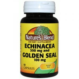 Echinacea 350 mg and Golden Seal 100 mg