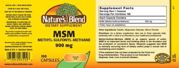 MSM (Methyl-Sulfonyl-Methane) 900 mg