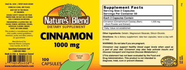 Cinnamon 1000 mg