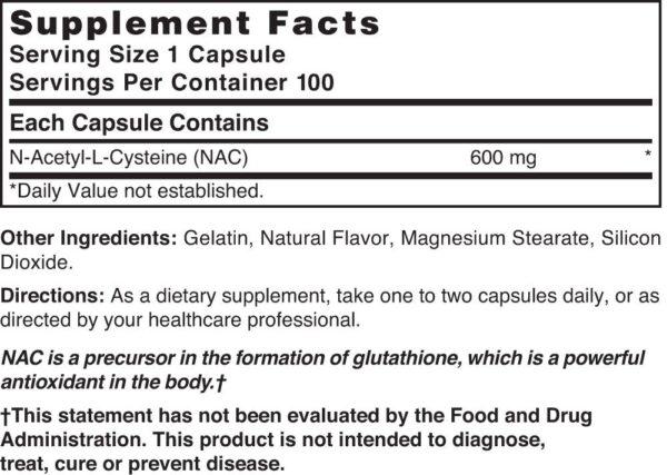 NAC(N-Acetyl-L-Cysteine) 600 mg