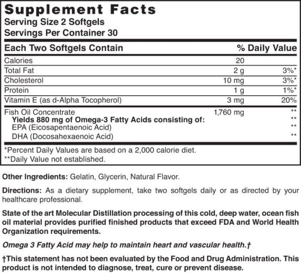 Omega-3 Fish Oil 1760 mg Extra Strength