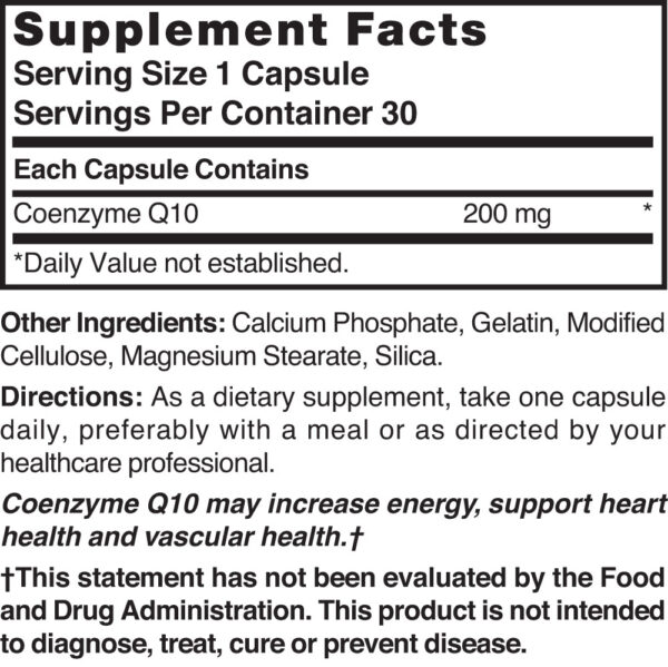 Co-Enzyme Q10 200 mg
