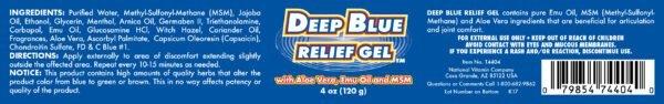 deep blue relief gel