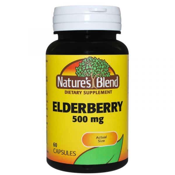 Elderberry 500 mg capsule